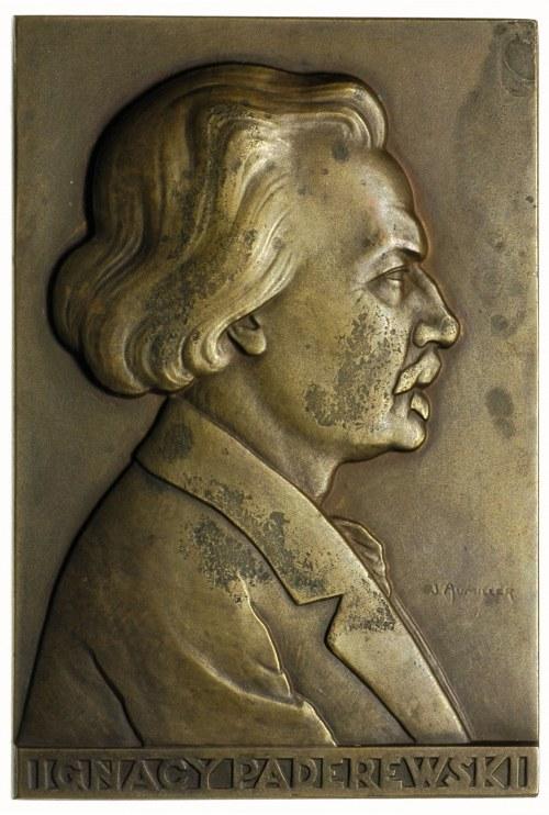 Ignacy Paderewski -plakieta Mennicy Państwowej sygnowan...