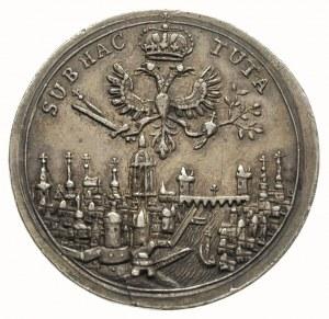 żeton 1711, wybity z okazji wyboru we Frankfurcie Karol...