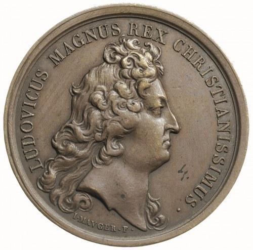 Ludwik XIV, medal sygn I. MAVGER. F. wybity w 1675 r., ...