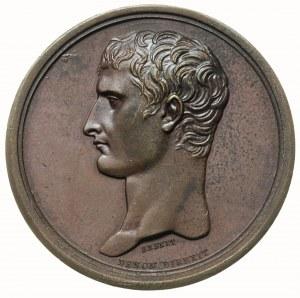 Napoleon Bonaparte Konsul, medal sygnowany BRENET / DEN...