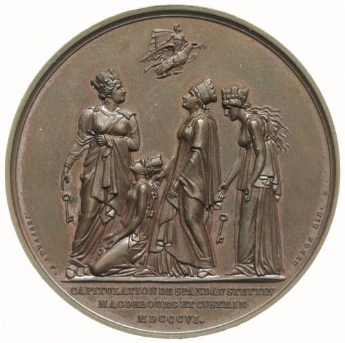 Napoleon Bonaparte Cesarz, medal sygnowany ANDRIEU F, J...