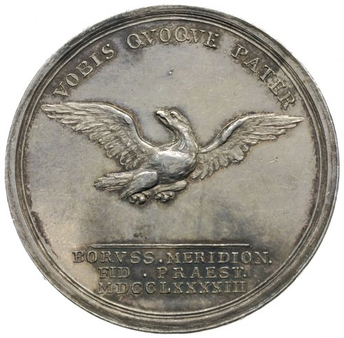 Fryderyk Wilhelm II, medal sygnowany ABRAHAMSON, wybity...