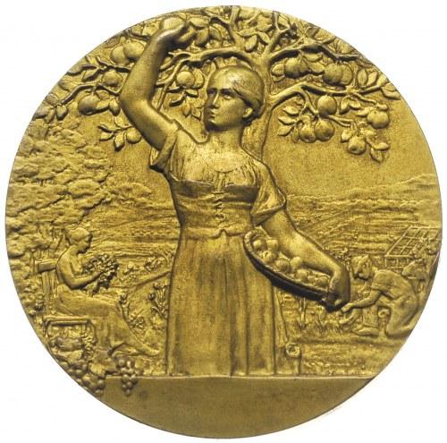 Wilhelm II, medal z wystawy ogrodniczej w Poznaniu 1907...