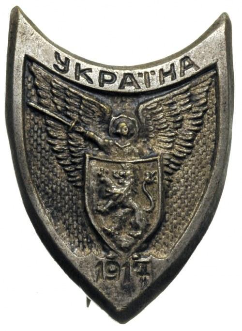 pamiątkowa odznaka \Ukraina 1917\; Archanioł Rusi trzy...