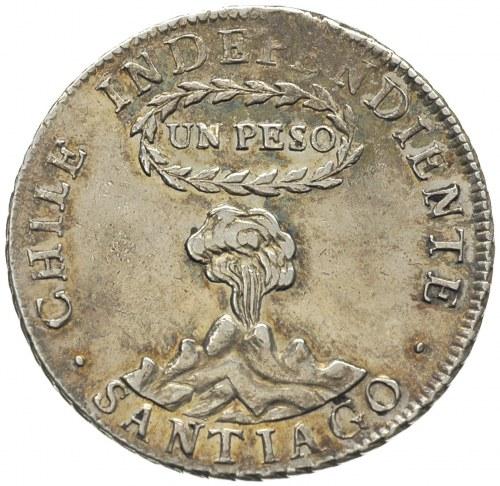 Republika od 1817, 1 peso 1817 / F.J., Santiago, KM. 82...