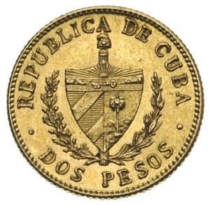 Republika, 2 pesos 1916, Filadelfia, złoto 3.33 g, Fr. ...