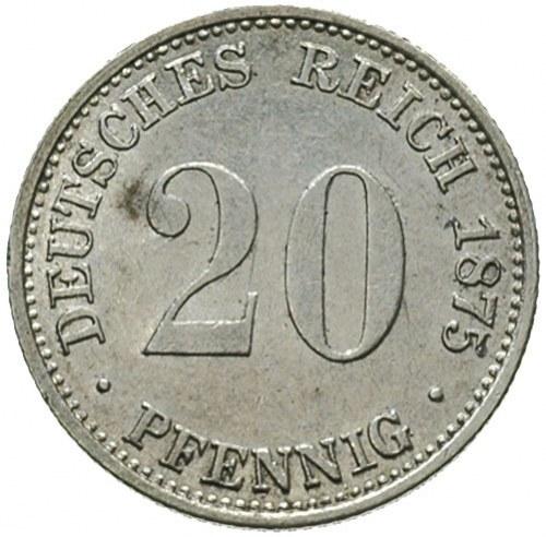 20 fenigów 1875 / E, Drezno, J.5
