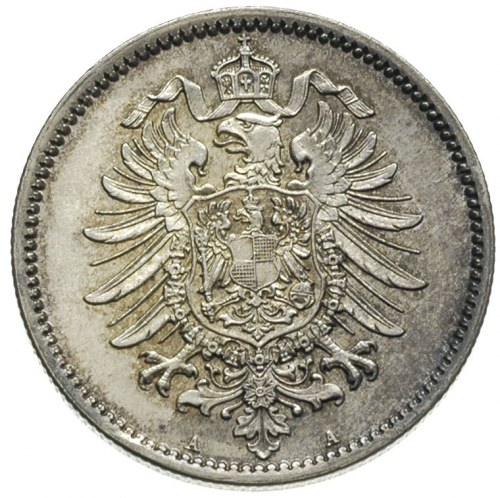 1 marka 1875 / A, Berlin, J.9, piękny stan zachowania, ...