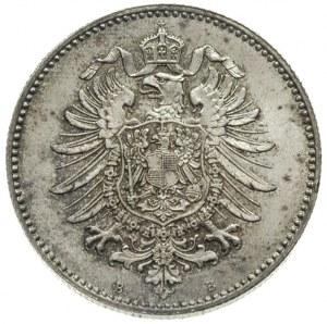 1 marka 1875 / B, Hanower, J.9, rzadka i pięknie zachow...
