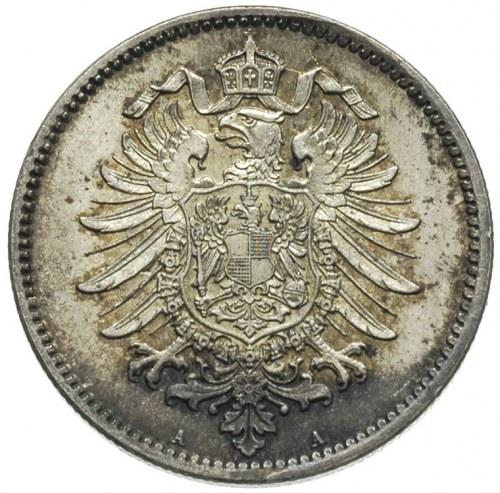 1 marka 1876 / A, Berlin, J.9, wyśmienity stan, patyna