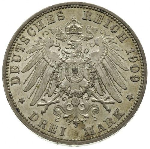 3 marki 1909 / A, Berlin, J.82, patyna