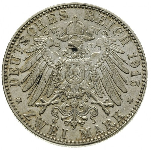 Jerzy II 1866-1914, 2 marki 1915 / D, Monachium, emisja...