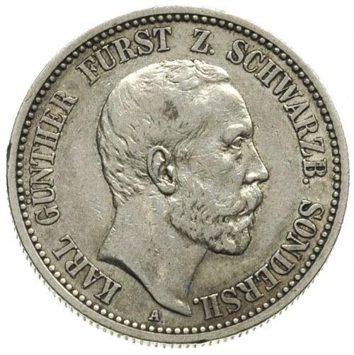 Karol Günther 1880-1909, 2 marki 1896 / A, Berlin, J.16...