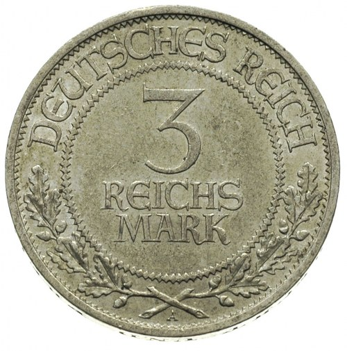 3 marki 1926 / A, Berlin, 700-lecie Wolnego Miasta Lube...