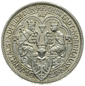 3 marki 1927 / A, Berlin, 1.000-lecie miasta Nordhausen...