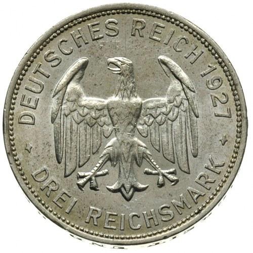 3 marki 1927 / A, Berlin, 450-lecie Uniwersytetu w Tübi...