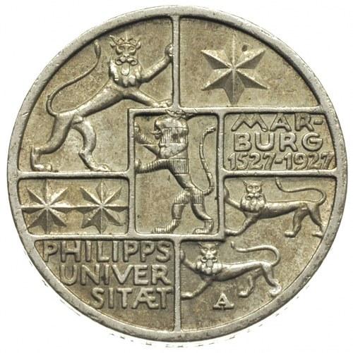 3 marki 1927 / A, Berlin, 400-lecie Uniwersytetu w Marb...