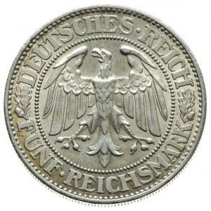 5 marek 1927 / F, Stuttgart, \Dąb, J.331,II+,1