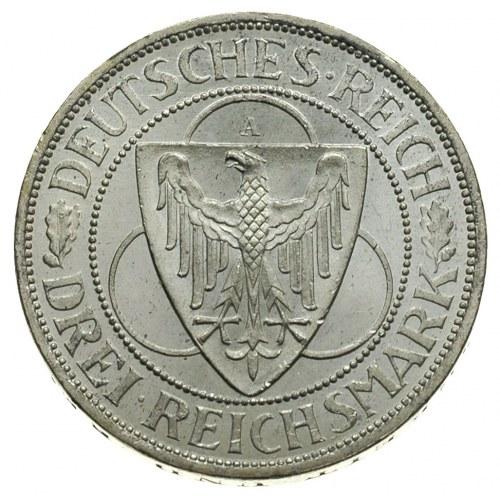 3 marki 1930 / A, Berlin, Zakończenie okupacji aliancki...