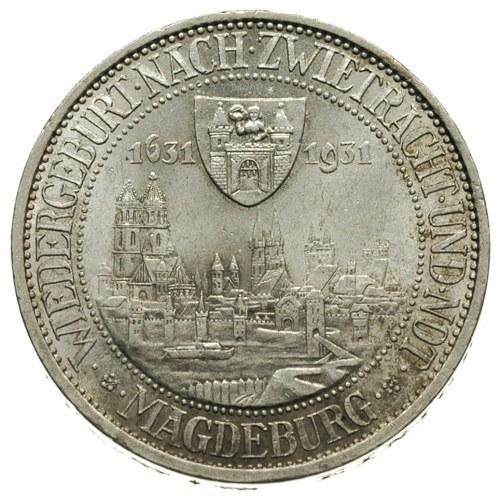 3 marki 1931 / A, Berlin, 300-lecie spalenia Magdeburga...