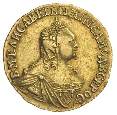 2 ruble 1756, Krasnyj Dwor, złoto 3.22 g, Diakov 383, J...