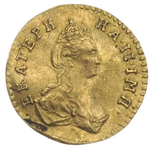 połtina 1777, Petersburg, złoto 0.66 g, Diakov 355, Jus...