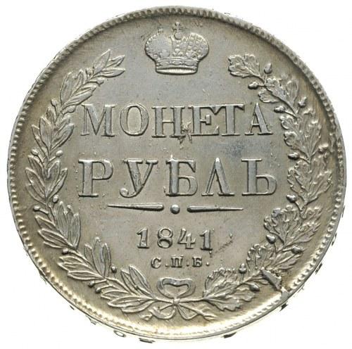 rubel 1841 / Н-Г, Petersburg, Bitkin 192, nieznaczne śl...
