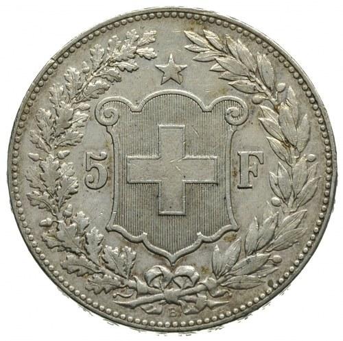 Konfederacja od 1848, 5 franków 1890 / B, Berno, HMZ 2-...