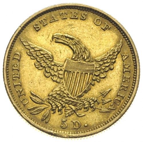 5 dolarów 1834, typ\Classic Head, bez motta na rewersie