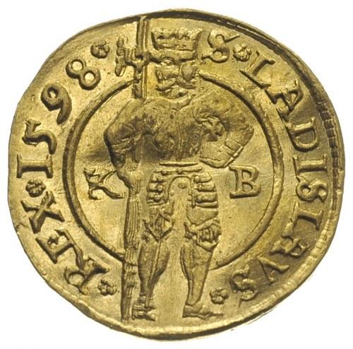 Rudolf II 1576-1608, dukat 1598 / K-B, Krzemnica, złoto...