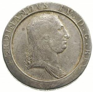 Ferdynand IV 1759-1816, 120 grana (piastra) 1805 / L-D,...