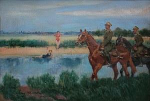 Jerzy Kossak (1886-1955), Oczekiwany najazd (1940)