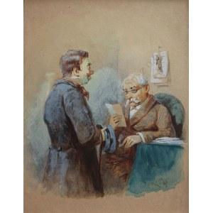 Franciszek Kostrzewski (1826-1911), Posłaniec z listem (1895)