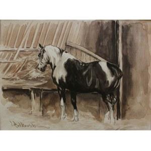 Tadeusz Rutkowski (1906-1981), Koń w stajni