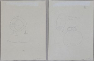 Mirosław BAŁKA (ur. 1953), Dwa szkice we wspólnej oprawie, 1995