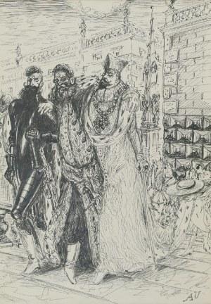 Antoni UNIECHOWSKI (1903-1976), Ilustracja do Preliminaria Peregrynacji do Ziemi Świętej jo. księcia Radziwiłła Sierotki, 1840  Juliusza Słowackiego, ok. 1958