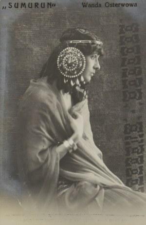 MALARSKI I TAVRELL, Pocztówka: Wanda OSTERWOWA   (1887-1929) - pocztówka z reprodukcją fotografii, 1913