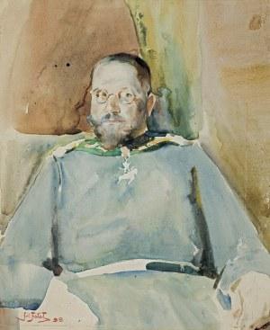 Fałat Julian, PORTRET ŁOWCZEGO DWORU CESARZA WILHELMA II,1899
