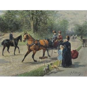 Chełmiński Jan, SPOTKANIE W PARKU, 1885