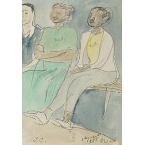 Czapski Józef, SIEDZĄCE KOBIETY (SZKIC DO OBRAZU), 1955