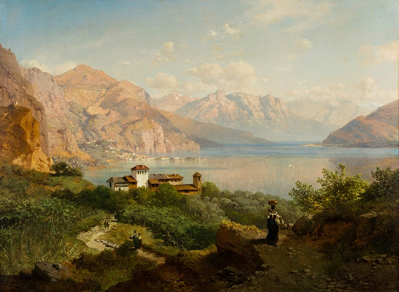 August Albert Zimmermann (1808-1888), Pejzaż alpejski