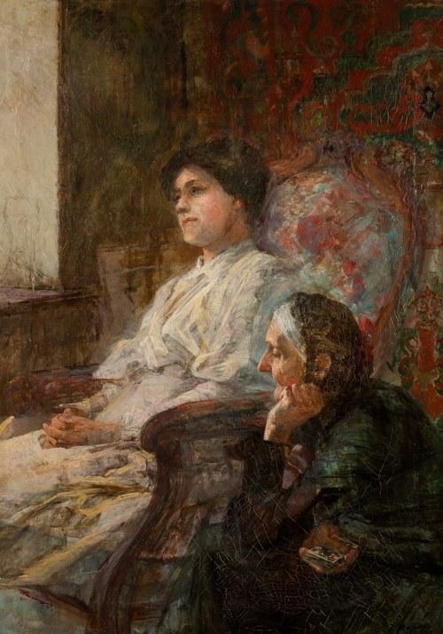 Zygmunt Papieski (1852 Kraków -1927 tamże), Matka z córką