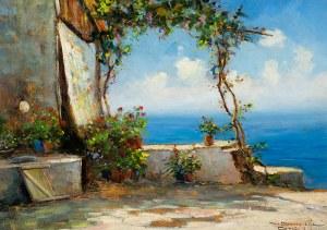Eugeniusz Dzierzencki (1905 Warszawa - 1990 Sopot), Widok z tarasu na Capri