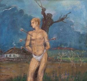 Wlastimil Hofman (1881 Praga - 1970 Szklarska Poręba), Święty Sebastian, 1964 r.