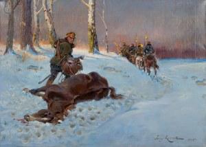 Jerzy Kossak (1886 Kraków - 1955 tamże), Pożegnanie, 1925 r.