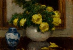 Alfons Karpiński (1875 Rozwadów - 1961 Kraków), Żółte róże