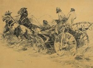 Stanisław Bohusz-Siestrzeńcewicz (1869 Wilno-1927 Warszawa), W drodze na targ, 1903 r.