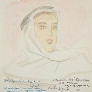 Maja Berezowska (1893 lub 1898 Baranowicze-1978 Warszawa), Portret Libańczyka, 1955 r.