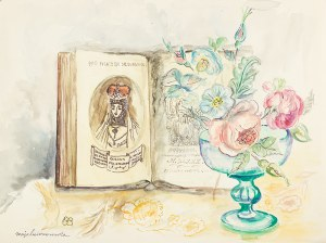 Maja Berezowska (1893 lub 1898 Baranowicze-1978 Warszawa), Martwa natura z kwiatami w hołdzie Barbarze Radziwiłównie