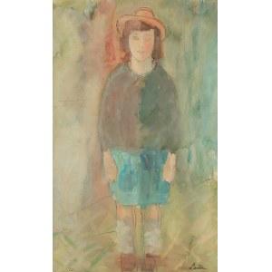 Zygmunt Landau (1898 Łódż - 1962 Tel Aviv), Dziewczynka w kapeluszu, 1936 r.